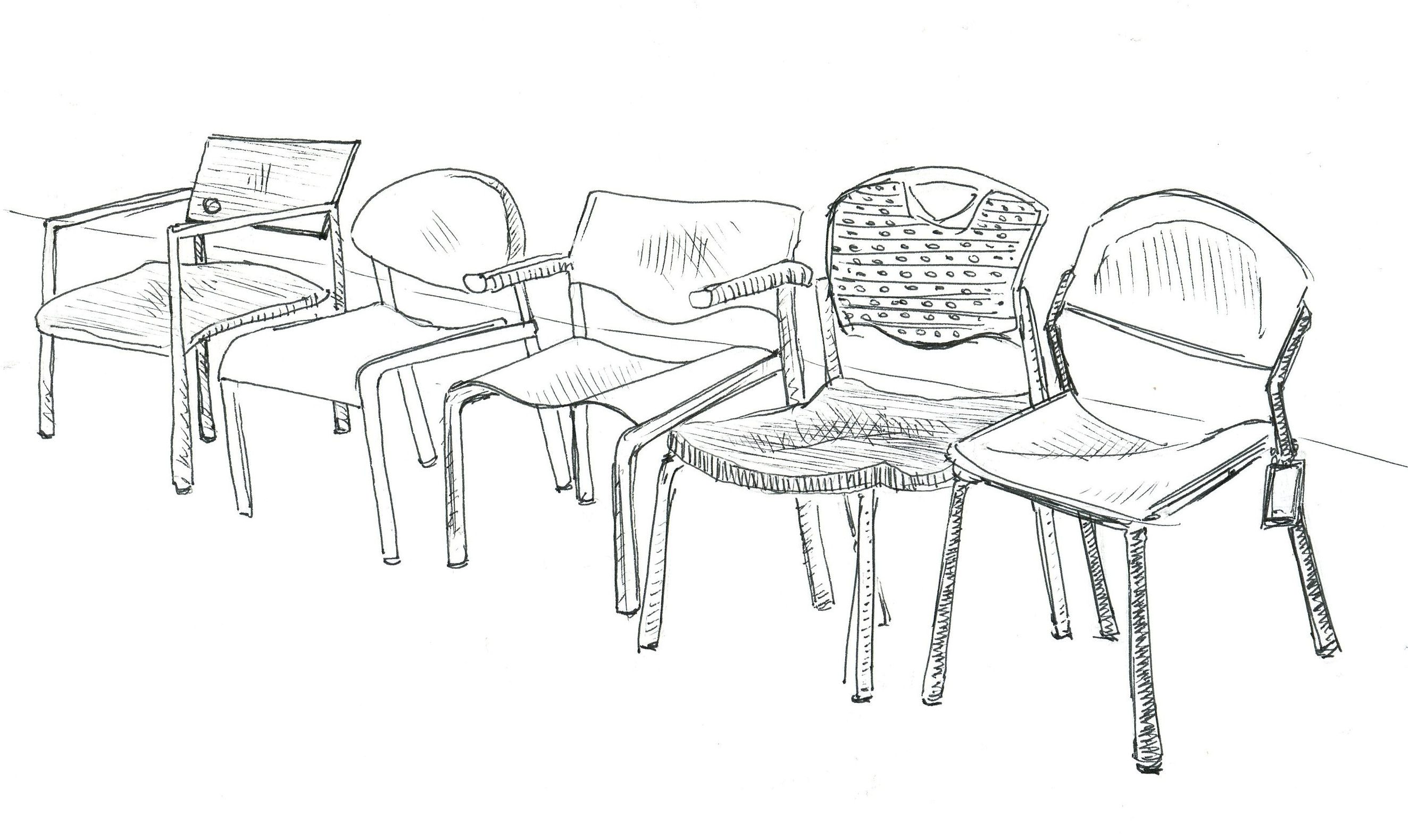 Barber chairs drawing - How To Draw Barber Chairbarber Chair Drawing