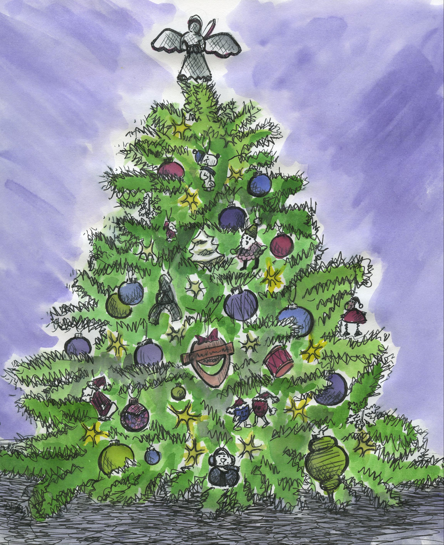 Christmas Tree   sketchbookfactory